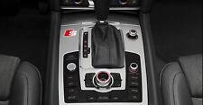 2 x Audi S-line Aufkleber für Mittelkonsole A4 A5 A6 A7 RS TT Q5 Q7 Emblem Logo