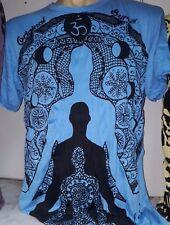 Yoga Short sleeve Men t shirt Sure Weed Shiva Buddha Chakra Love Om Cotton new M