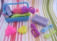 Fashion Barbie Doll Vanity Dresser Bathroom Lot-Kleenex Lipstick Dryer Basket