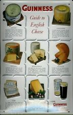 More details for guinness guide to  english cheeses: embossed 3d metal  sign 30x20cm, irish bar