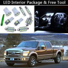 8PCS White LED Interior Lights Car Package kit Fit 1999-2010 Ford Super Duty J1