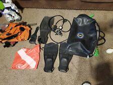 Scubapro Regulator Set Scuba Diving Gear Used vest fins and bag