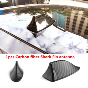 Universal Carbon Fiber Style Car Roof Shark Fin Antenna Aerial Decorative Cover