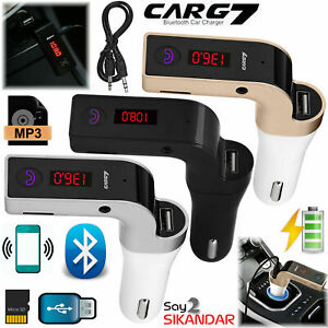 Wireless Car MP3 Bluetooth FM Transmitter Radio Music Player LCD USB Charger Kit