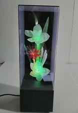 Vintage 1984 Y.S. Co FIBER OPTIC Color Changing Lighted FLOWER DISPLAY w/music