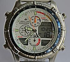 "Citizen ""ProMaster navisurf WorldTime yacht Race timer"" c-320 acero inoxidable rareza"
