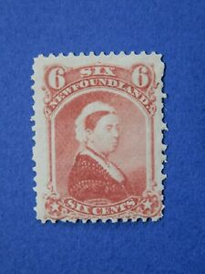 Newfoundland #35 MH 6c dull rose Queen Victoria, issued 1870  CV=$55.00