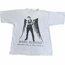 More details for marc almond vaudeville & burlesque 1991 vintage promo tour t shirt xl soft cell