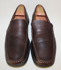 Ecco Brown Leather Moc Toe Slip On Driving Loafers Mens Sz 11 - 11.5 / 45