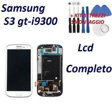 LCD DISPLAY SAMSUNG GALAXY S3 GT-I9300 BIANCO TOUCH SCREEN FRAME NUOVO ORIGINALE