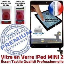 Vitre Ecran Tactile iPad MINI 2 Noir Assemblée Bouton HOME IC Adhésif Pré-montés