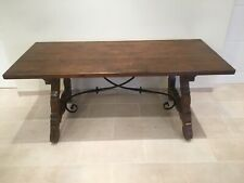 Antique Spanish Basque Large Kitchen/Farmhouse Solid Cherry wood Table