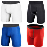 Mens Sports Compression Boxer Under Base Layer Shorts Gym Pants Tights Skin Wear
