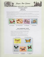 1979 PNG PAPUA NEW GUINEA Traditional Currency Fauna Moths STAMP SET K-448