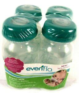 Evenflo Breast Milk Collection Bottles 5 oz Set of 4
