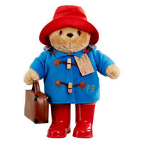Paddington Bear Plush Soft Toy Large with Boots & Suitcase Classic 33cm 10m+