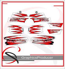 Yamaha Banshee 2010 White Model Replica Decal Full Set Graphics For OEM Fenders