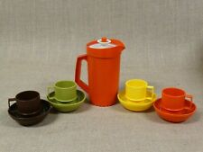 Vintage Tupperware Toys Set ~ Kids Play Dishes ~ Mini Pitcher Bowls Mugs Cups