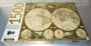 MINDBOGGLERS - VINTAGE WORLD MAP - 1500 PIECE JIGSAW PUZZLE - COMPLETE