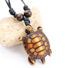 Cool Hawaiian Surf Necklace Turtle Pendant