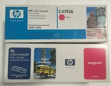 Lot Of 2 New Factory Sealed Magenta HP C4193A Toner Cartridges