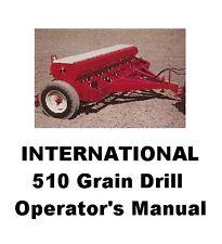 International 510 Grain Drill Operator's Manual