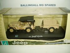 CARARAMA  JEEP WILLY'S CJ-2A AND TRAILER SCALE1:43 NEW OLD STOCK ITEM