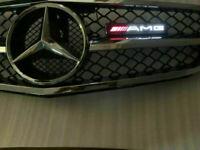 AMG LED Licht abzeichen Illuminated Decal gitter Emblem für Mercedes-Benz