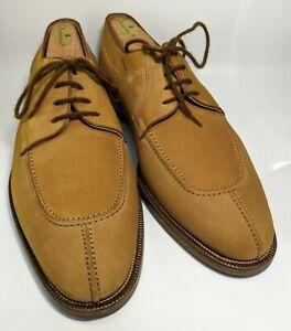 Bally Carillo Men's UK: 11 D US: 12 Suede Leather Beige Split Toe Derby Shoes