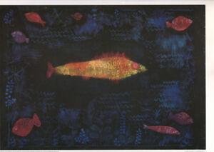 PAUL KLEE - THE GOLDFISH * VERY RARE PRINT 1990