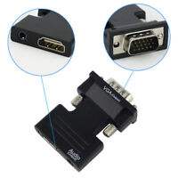 HDMI Female to VGA Male Converter+Audio Adapter Support 1080P Signal Output KY