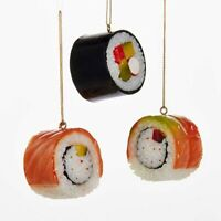 Kurt S. Adler Sushi Rolls 1-3/4 Inch Hanging Christmas Designer Ornaments