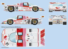 Toyota 84C Wacoal Team Dome  Fuji 1000Km 1/24 water transfer decals for Tamiya