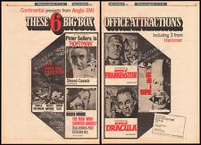 HAMMER HORROR__Orig. 1970 Trade AD promo / poster__SCARS OF DRACULA_FRANKENSTEIN