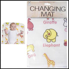 Animal Design Changing Mat with Wiping Hygeine - White