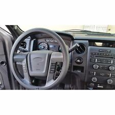 Sumex Comfort Grip Breathable Black Leather & White Steering Wheel Cover - LARGE
