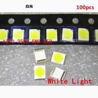 100 Pcs 3528 White Ultra Bright Light Diode 1210 SMD LED Lights Set - US