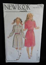 1970s SEWING PATTERN NEW LOOK 6252 : GIRL'S DRESS : 3 SIZES 5/6 7/8 9/10 YEARS