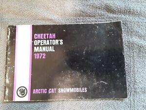 Vintage 1972 Arctic Cat Cheetah Snowmobile Operators Manual