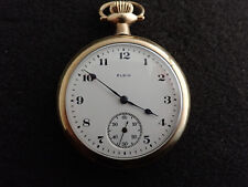 VINTAGE 16 SIZE ELGIN POCKET WATCH GRADE 313 RUNNING AND KEEPING TIME