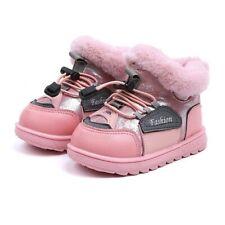 Mädchen Winter Stiefel Fell Boots warm gefüttert 24 rosa Glitzer Profilsohle