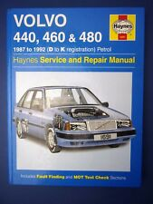 Haynes Owners Service and Repair manual Volvo 440 460 480 1987 to 1992 (1712)