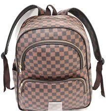 New Designer Girls Women Checked Rucksack Backpack Fashion Shoulder Handbag UK