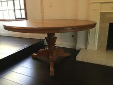 "58"" Indonesian Solid Teak Round Dining Table"