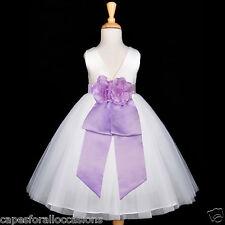 WHITE WEDDING FLOWER GIRL DRESS PARTY 12M 18M 2/2T 3/3T 4/4T 5/5T 6/6X 7 8 9 10