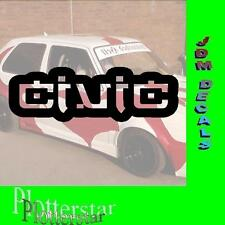 Civic Japan JDM Sticker Aufkleber oem Power fun like Shocker DUB