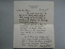 ARTHUR G. STAPLES (Died-1940)Lewiston Journal/ Signed 6 x 7 1938 Personal Letter