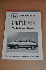 Werkstatthandbuch Aufbau und Funktion HONDA Civic Shuttle 4WD (1984)