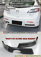 K-Style Rear Aprons (Single Exhaust) Fits 10-12 Mazda 3 5dr
