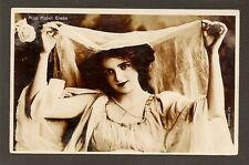 REAL-PHOTOGRAPH POSTCARD:  MISS MABEL GREEN - BEAUTIFUL STAGE ACTRESS